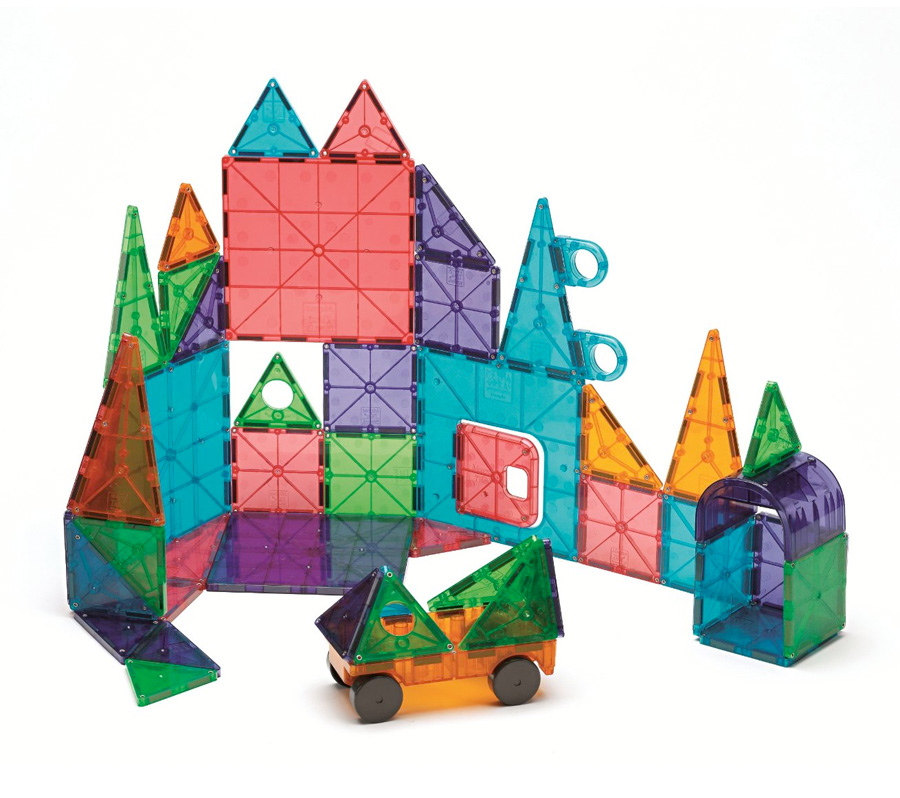 Toys Magnetic Tiles : Magna tiles clear colors piece dx set
