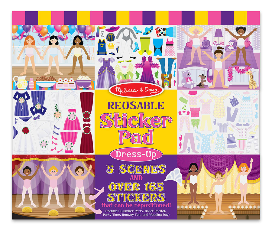 Reusable Sticker Pad Dress Up Best Travel Toys For Ages 3 To 4
