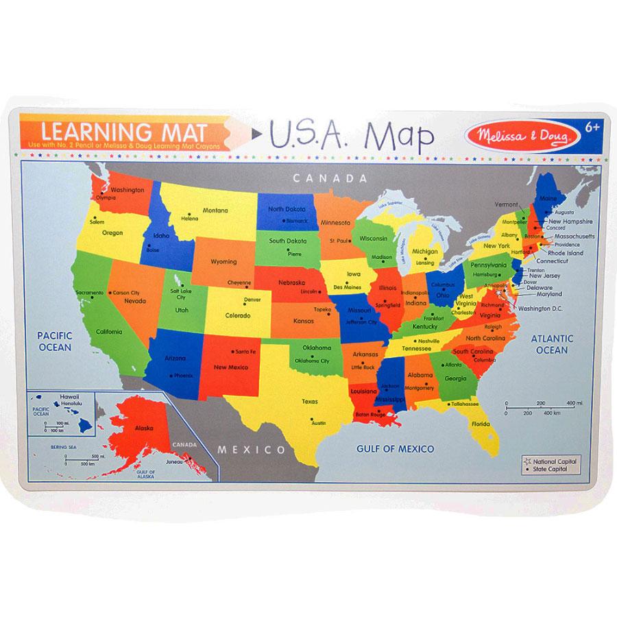 USA Map Learning Write A Mat Usa