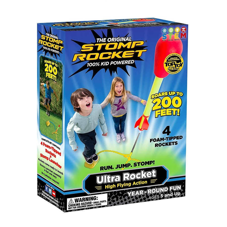 "9 YO 10YO 11 Ultra Stomp Rocket® ""This toy didn't have to be altered for my son. He is 11. He can use his hand or his foot. His motor skills do not have to be ..."