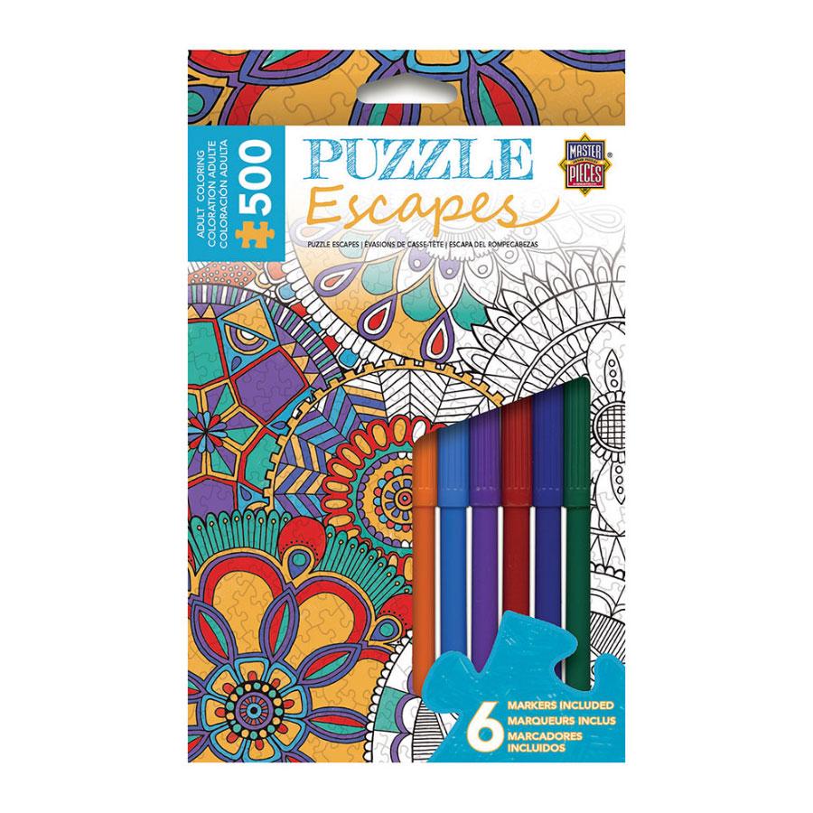 Mandala Collage Coloring Puzzle Escapes 500 Pc