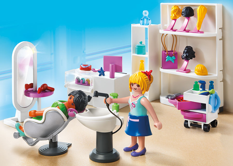 Playmobil shopping mall beauty salon for Salon playmobil