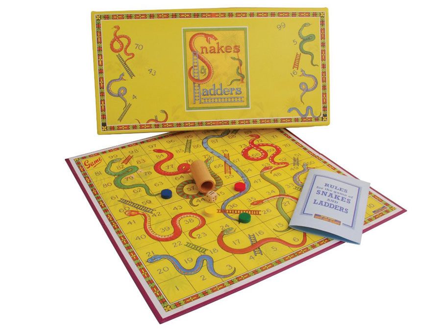 Snakes Ladders Retro Game