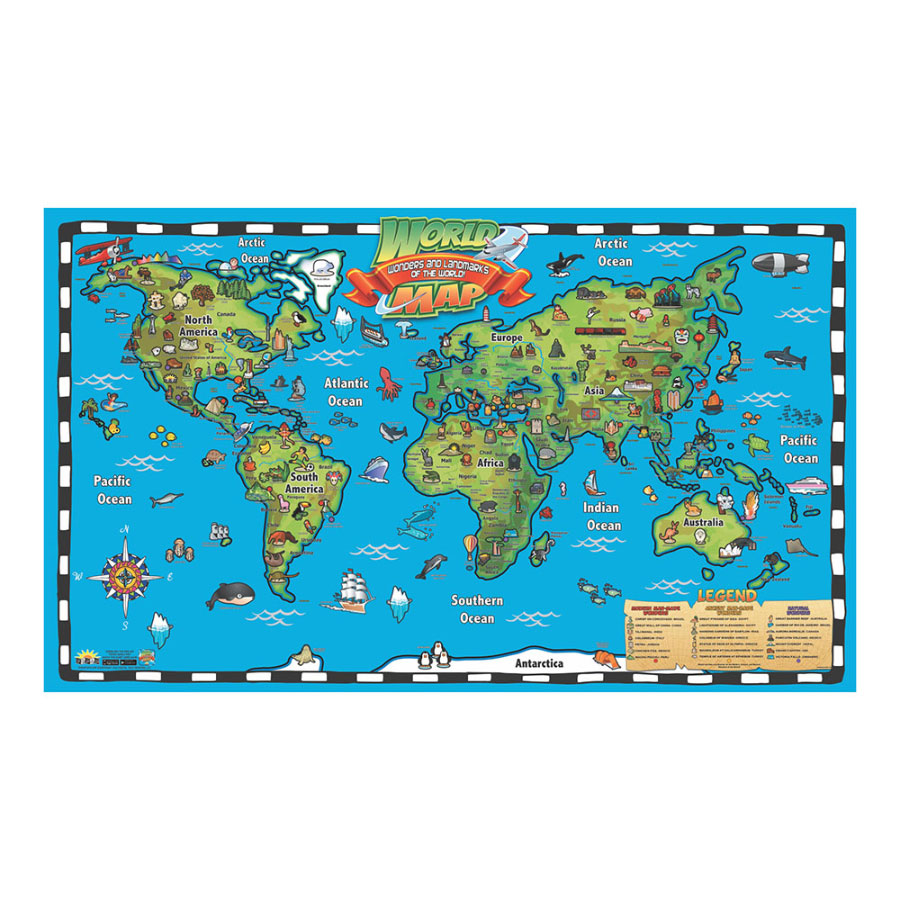 Kid's World Map Wall Chart with Interactive Map on free world globe map, free world map poster, free world map wallpaper, free world atlas map,