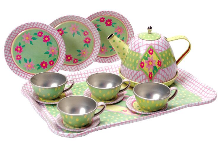 Toy Tea Sets For Boys : Children s tin tea set