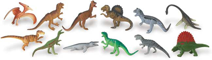 Dinosaurs Mdf Toy Box Childrens Storage Toys Games Books: Carnivorous Dinosaur Toob