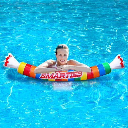 Smarties Candy Pool Float Fat Brain Toys