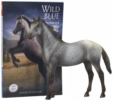 Wild Blue Classic Breyer Horse Amp Book Set