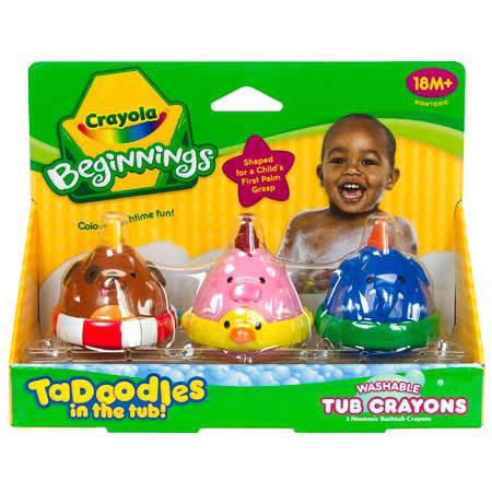 crayola beginnings 3 ct tadoodles bath crayons has been reviewed 3 times with an average rating of 433 - Crayola Bathroom Crayons