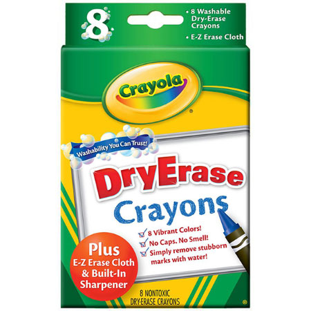 customer reviews of 8 ct washable dry erase crayons by crayola