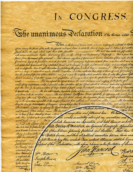 Declaration Of Independence 1776 Historical Document