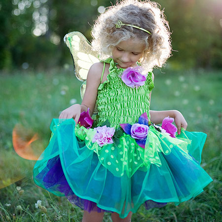 fairy blooms deluxe dress green with wings small. Black Bedroom Furniture Sets. Home Design Ideas