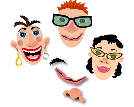 Magnetic Silly Faces Make a Face Magnet Set