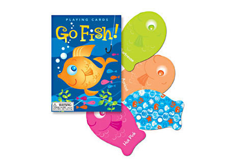 Color go fish playing cards for Go fish cards