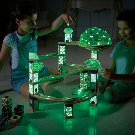 Quadrilla Marble Run Space City Fat Brain Toys