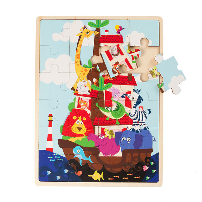 Zoo Boat 24 Piece Wooden Puzzle