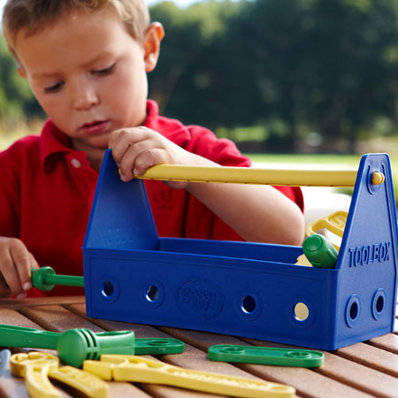 Top toys for 2 year old boys green toys tool set blue negle Image collections