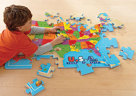 History Geography Buy Online At Fat Brain Toys - Gifts for 8 year old boy the us map