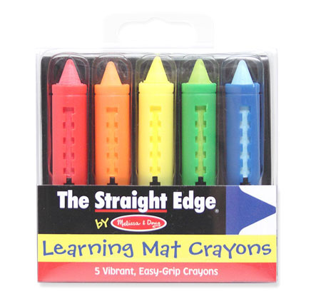 Write On-Wipe Off Learning Mat Crayons