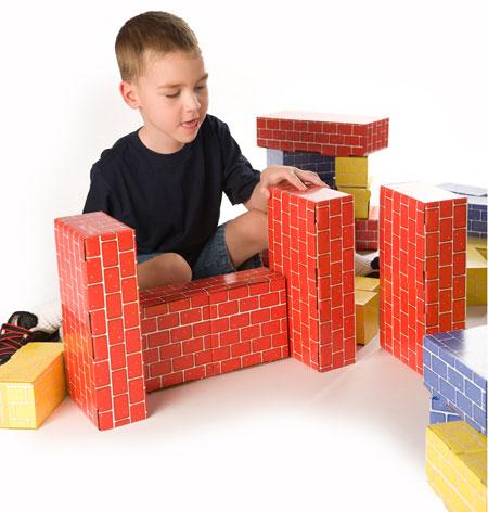 Deluxe Jumbo Cardboard Blocks 40 Pcs