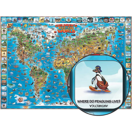 History geography geography buy online at fat brain toys childrens illustrated map of the world gumiabroncs Gallery