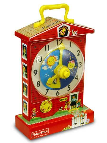 Retro Fisher Price Teaching Clock Best For Ages 1 To 3