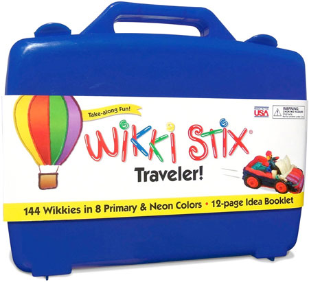 English /& French Bilingual Packaging WikkiStix Traveler Playset Craft Kit Molding /& Sculpting Sticks 1810