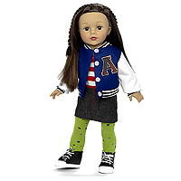 Favorite Friends Varsity Girl - 18 inch