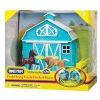 Stablemates Breyer Frolicking Foals Pocket Barn