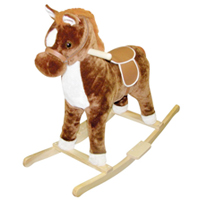 Brown Pinto Rocking Horse
