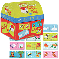 2-Piece First Puzzles - Where Animals Live