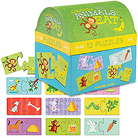 2-Piece First Puzzles - What Animals Eat