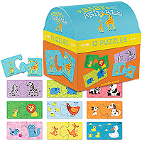 2-Piece First Puzzles - Baby Animals