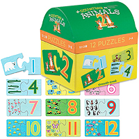 2-Piece First Puzzles - Counting Animals