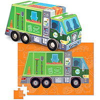 Recycle Truck Vehicle Puzzle 48 pc