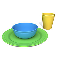Tabletop Set - Plate, Bowl, Tumbler