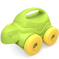 Turtle-on-Wheels Push Toy