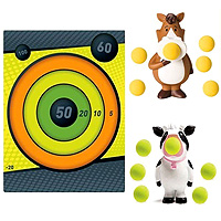 Squeeze Popper with Sticky Target - Cow vs. Pony