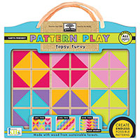 Green Start Pattern Play Wooden Puzzle - Topsy Turvy