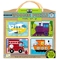 Green Start Wooden Puzzle - Ready, Set, Go