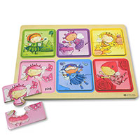 Green Start Wooden Puzzle - Rainbow Fairies