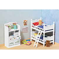 Calico Critters - Children's Bedroom with Bunk Beds
