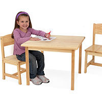 Aspen Table & Two Chair Set - Natural