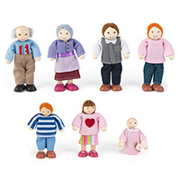Doll Family of 7 - Caucasian