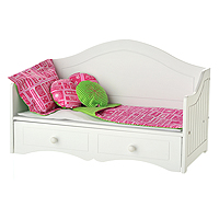 Hot Pink & Green Apple Linen Set for Daybed