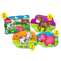 Step Ups! 4-in-A-Box Puzzles - Farm