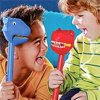 Dinosaur Puppet-On-A-Stick Set of 3