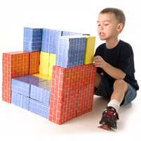 Deluxe Jumbo Cardboard Blocks 40 Pcs