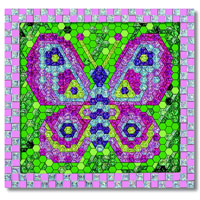 Peel and Press Mosaics - Butterfly
