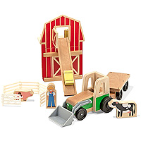 Whittle World-9-Piece Wooden Farm & Tractor Set